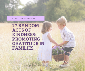 gratitude in kids random acts of kindness